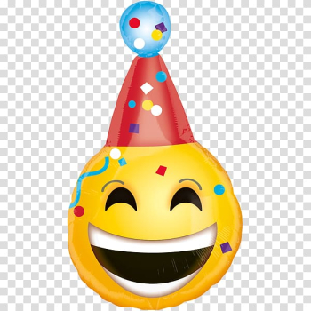 Balloon Party hat Birthday Smiley Emoticon, balloon transparent background PNG clipart png image transparent background