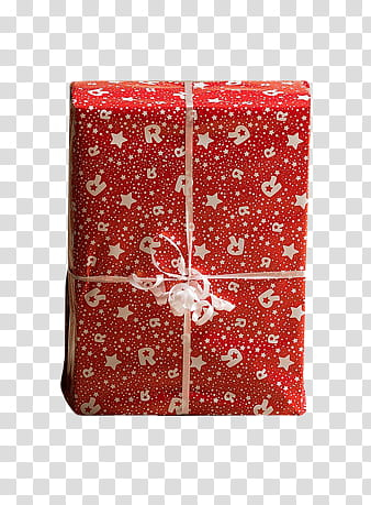 CHRISTMAS, red and white floral gift box transparent background PNG clipart png image transparent background