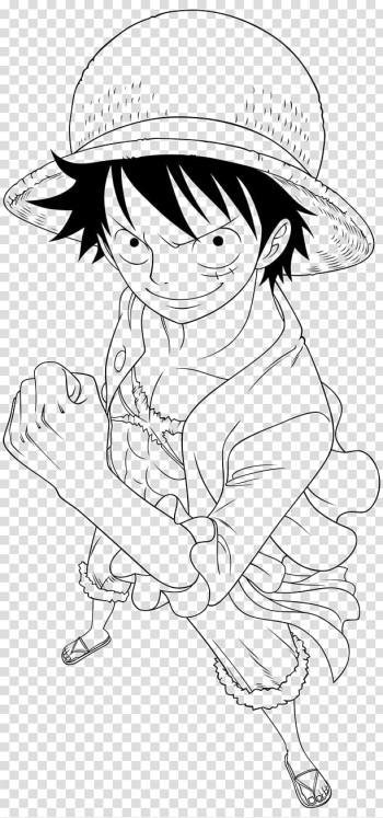 Line art Monkey D. Luffy Drawing, manga transparent background PNG clipart png image transparent background
