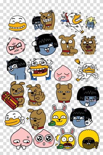 Emoticon Kakao Friends KakaoTalk Umbrella, Line Friends transparent background PNG clipart png image transparent background