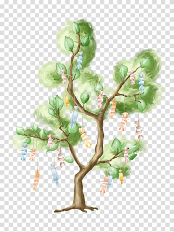 Birthday 0 Tree Party August, forest watercolor transparent background PNG clipart png image transparent background