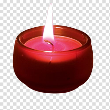 Lighted tealight candle on red glass holder, Light Candlestick chart, Candle Light transparent background PNG clipart png image transparent background
