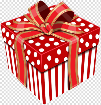 Red and white polka-dot giftbox illustration, Cardboard box Gift Paper Do it yourself, Cute Red Gift Box transparent background PNG clipart png image transparent background