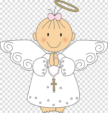 Girl angel illustration, Baptism Eucharist First Communion Child Christmas, angel baby transparent background PNG clipart png image transparent background