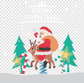 Santa Claus Reindeer Christmas tree , Creative Christmas transparent background PNG clipart png image transparent background