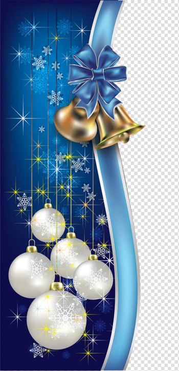 White and blue Christmas baubles , Santa Claus Holiday Christmas tree New Year, Christmas blue decorative borders transparent background PNG clipart png image transparent background