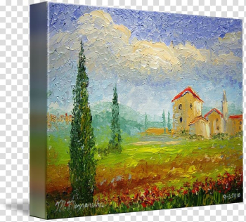 Tuscany Watercolor painting Art, countryside transparent background PNG clipart png image transparent background