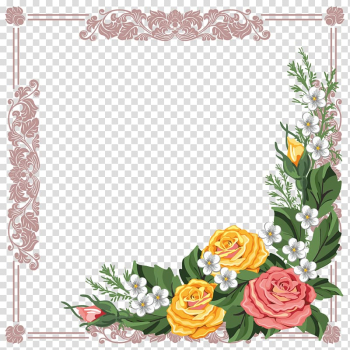 Borders and Frames Frames Flower , Flowers material transparent background PNG clipart png image transparent background