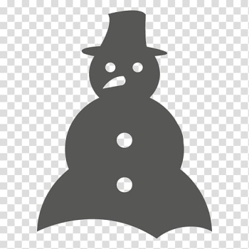 Snowman Scarf Silhouette Christmas, snowman transparent background PNG clipart png image transparent background