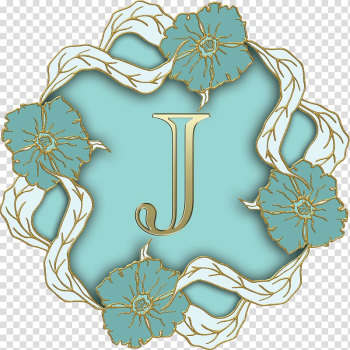 Letter J with flower frame , Flower Theme Capital Letter J transparent background PNG clipart png image transparent background