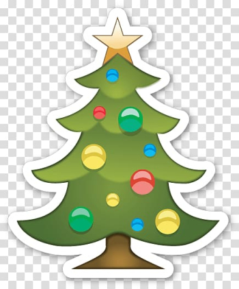 Green Christmas tree graphic, Christmas Tree Emoji Sticker transparent background PNG clipart png image transparent background