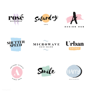 Collection of logos and branding vector | Free stock vector - 466456