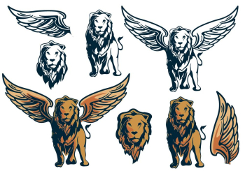 Winged Lion Roar - Winged Lion Sitting , Free Transparent Clipart -  ClipartKey