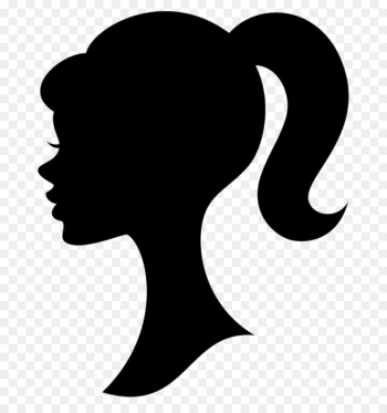 Silhouette, Barbie, Drawing, Hair, Head PNG png image transparent background