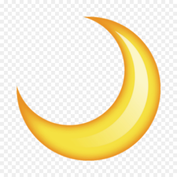 Emoji, Moon, Smiley, Yellow, Crescent PNG png image transparent background