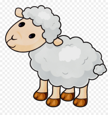 sheep cartoon sheep clip art cow-goat family png image transparent background