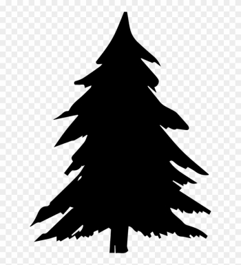 Fir Tree Clipart Pine Tree Outline - Christmas Tree Shadow png image transparent background
