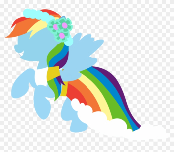 Rainbow Dash Wedding Dress By Rainbow123451101 - Illustration png image transparent background