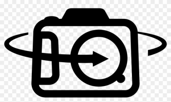 Photo Camera With Rotating Arrow Comments - Psd png image transparent background