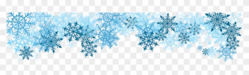 Snowflake Banner Clipart - Blue Snowflakes Border Png png image transparent background