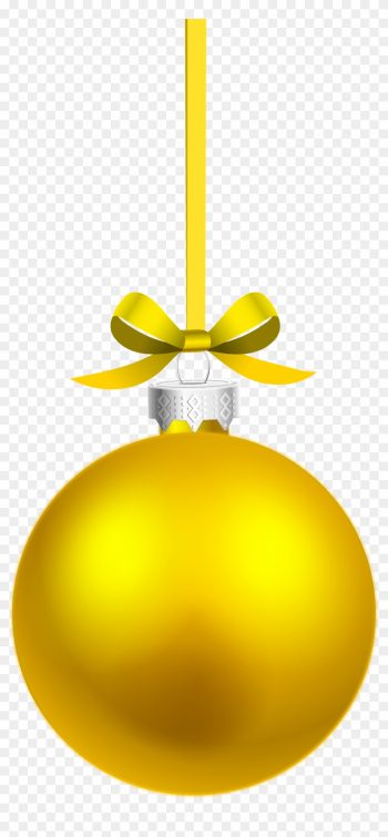 Yellow Christmas Ornaments Vector Png - Hanging Christmas Ball Png png image transparent background