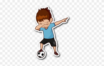 Funny Dabbing Dance Soccer Sticker Car Bumper Decal - Soccer Sticker png image transparent background