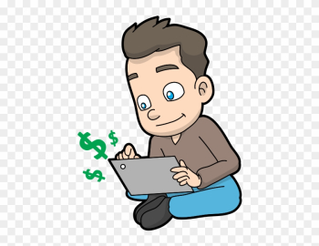 Cartoon Guy Making Money Online - Wikimedia Commons png image transparent background