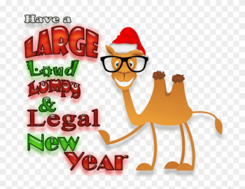 Cartoon Camel Wearing Glasses And A Santa Hat Pointing - Cartoon png image transparent background