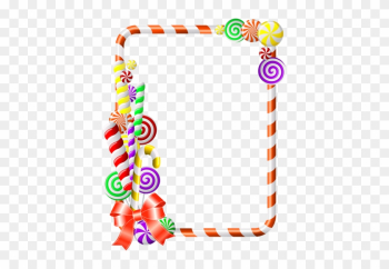 Borders For Paper, Borders And Frames, Frame Background, - Candy Cane Border Png png image transparent background