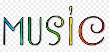October 2018 Music News - Word Music In Rainbow png image transparent background