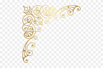 Download Decorative Clipart Png Transparent Background - Gold Corner Border Designs png image transparent background
