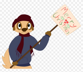 Bruno Wishes You All Merry Christmas - Cartoon png image transparent background