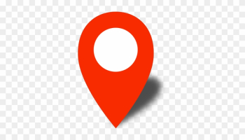 Simple Location Map Pin Icon2 Red Free Vector Data - Icon Pin Map Red png image transparent background