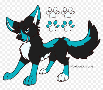 Wolf Design For Hazard Dragon By Noxious Kitsune - Cartoon png image transparent background