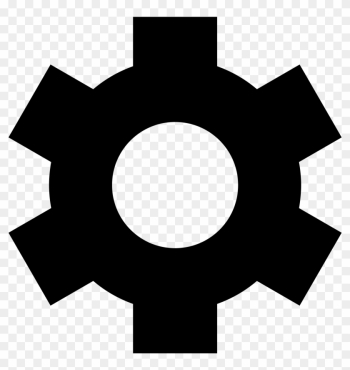 File Simpleicons Interface Gear Wheel In Black Svg - Material Design Setting Icon png image transparent background