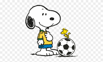 Snoopy And Woodstock Play Soccer - スヌーピー サッカー png image transparent background