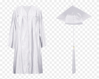 White - Graduation Toga For Elementary png image transparent background