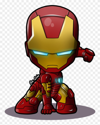 Iron Man Chibi By Joeleon-dag5phv - Iron Man Cartoon Png png image transparent background