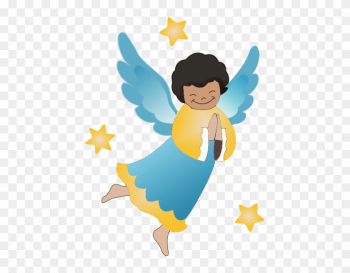 African American Religious Christmas Clipart - Angel Clipart Png png image transparent background