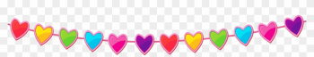 Birthday Hearts Clip Art - Line Of Hearts Clip Art png image transparent background