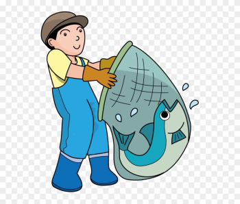 Fishing Clipart On Clip Art Fishing And Fish Clipartcow - Fisherman Clip Art png image transparent background