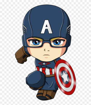 Captain America Iron Man Spider-man Cartoon Chibi - Capitan America Chibi Png png image transparent background