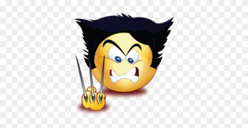 Angry Wolf Scissor Hands - Cartoon png image transparent background