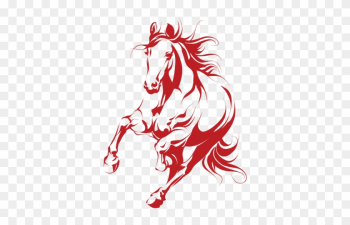 Mustang Clipart Medway - Vector Silhouette Of A Running Horse png image transparent background