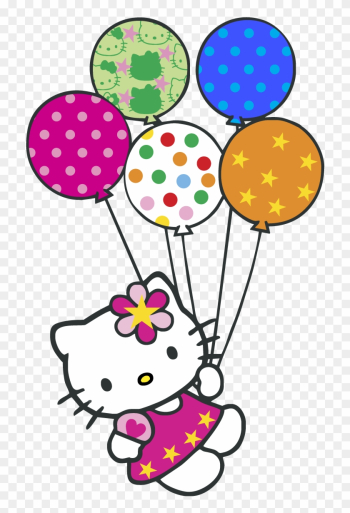 Hello Kitty Balloons Logo Vector Graphic - Hello Kitty Happy Birthday Wishes png image transparent background