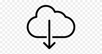 Cloud With Arrow Pointing Down, Ios 7 Interface Symbol - Download Data png image transparent background