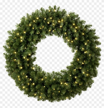 Wreath Clipart Light Png - Pre Lit Outdoor Christmas Wreaths png image transparent background