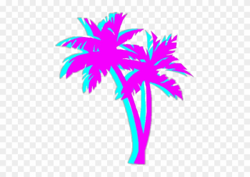 Bright Colorful Neon Aesthetic Tumblr Vaporwave - Vaporwave Palm Tree png image transparent background
