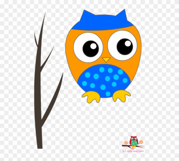 Blue Owl On A Branch Wall Decoration Sticker - Owl Baby Shower png image transparent background