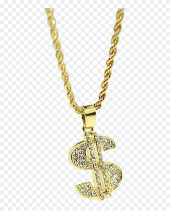 Thug Life Dollar Gold Chain Png High-quality Image - Dollar Chain Png png image transparent background